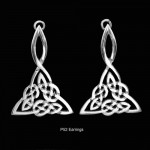 Celtic Knotwork Drop Earrings