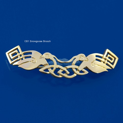 Celtic Beastie Snowgoose Brooch