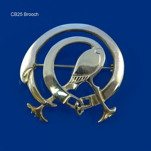Celtic Beastie Heron Brooch