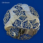 Celtic Beastie Three Horse Brooch