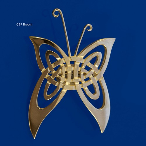 Celtic Beastie Butterfly Brooch