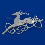 Celtic Beastie Leaping Deer Brooch