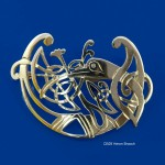 Celtic Beastie Heron Brooch (2)