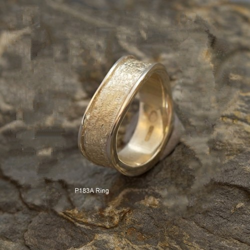 Contemporary Sand Effect Ring