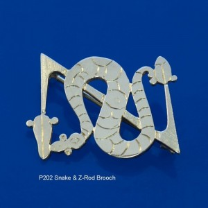 Pictish Snake & Z-Rod Brooch