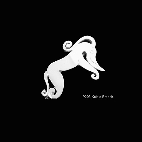 Pictish Kelpie Brooch