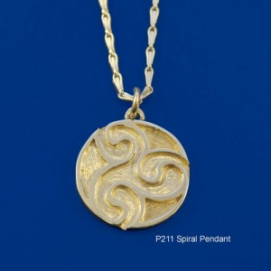 Pictish Spiral Pendant